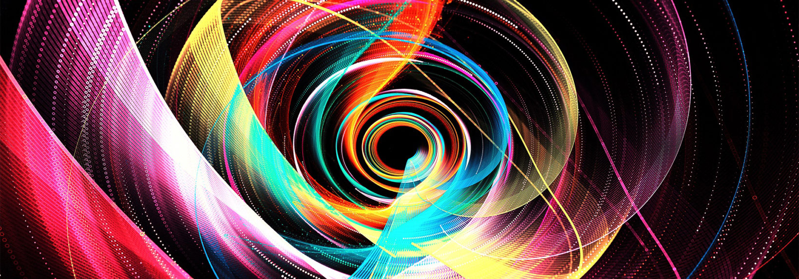 Colorful light moving in circular shapes