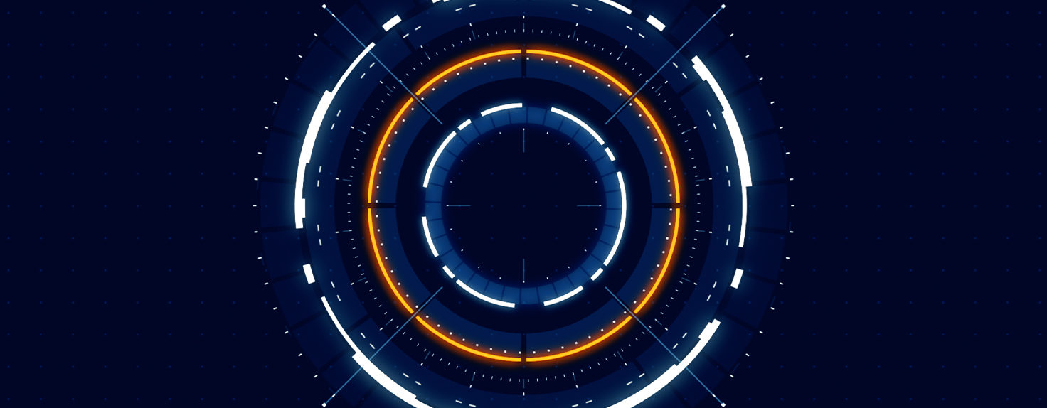 Circle made of bright lines